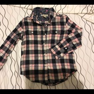 Tailor Vintage /// Flannel Button-down! Girls 4/5